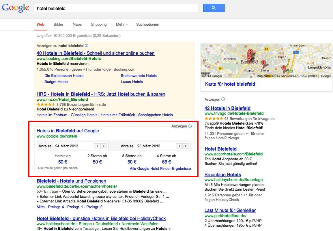 Google Hotelfinder