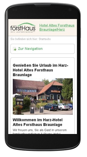 Hotel-Website im Responsive Webdesign