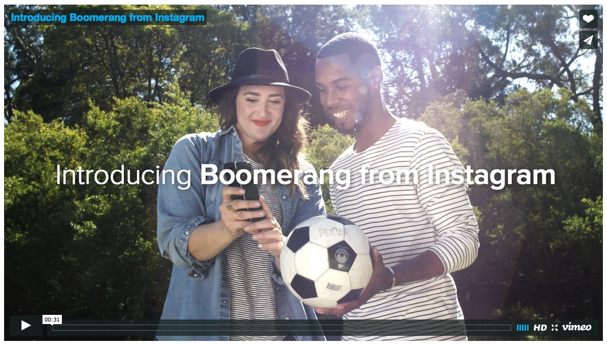 Screenshot: Boomerang-App von Instagram