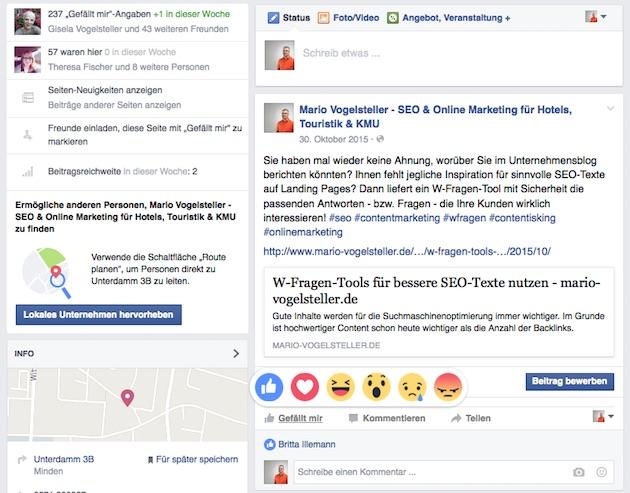Facebook Reactions weltweit ausgerollt