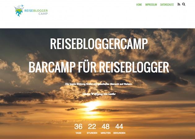 Screenshot: Reisebloggercamp - das erste Barcamp für Reiseblogger
