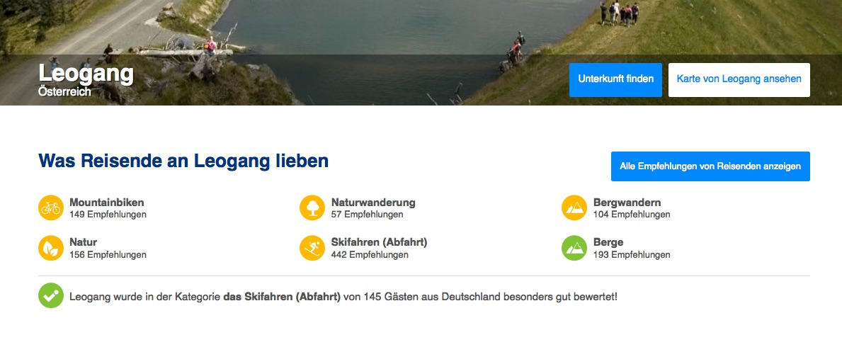 Screenshot: Passion Search auf booking.com