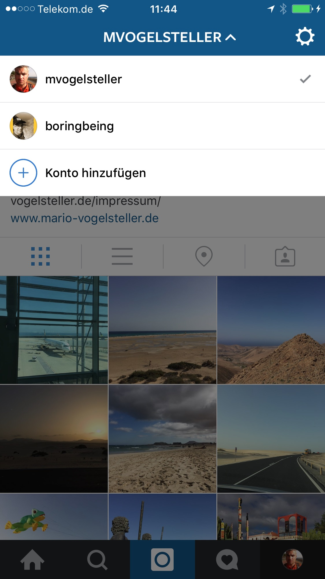 Einrichtung von mehreren Instagram-Accounts