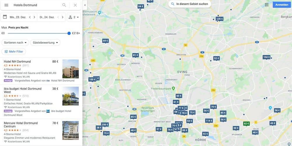 Google-Maps-Tipps für Hotels