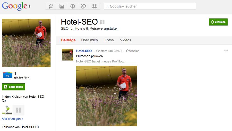 Hotel SEO - meine Google+ Seite